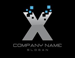 Techno letter X