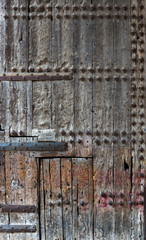 Old studded door