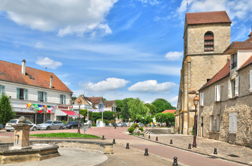 Ile de France, the picturesque city of Villennes sur Seine
