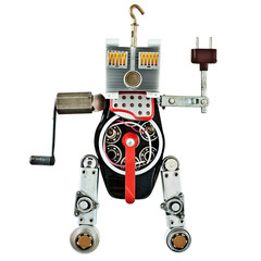 Robot from metal parts