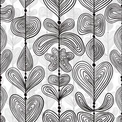 Hand drawn lines seamless pattern.