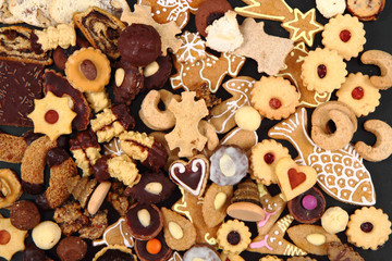 christmas desserts and cookies from czech republic