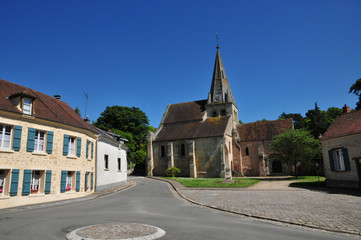 France, the picturesque village of Gaillon sur Montcient