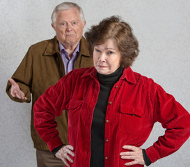 Bickering Senior Couple
