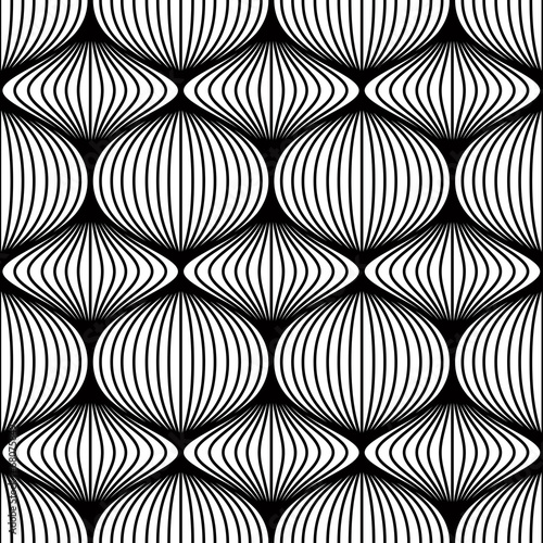 Lined balls seamless pattern.