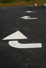 Arrow Directional Painted Road Sign