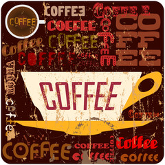 retro coffee sign, vector illustration