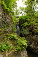 Aira Force waterfall Ullswater Valley Lake District Cumbria