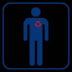 Recycling heart, vector