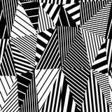 Geometric stripy seamless pattern.