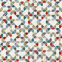 Abstract mosaic seamless background, vector geometric seamless