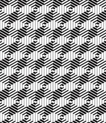 3d boxes geometric optical seamless pattern.