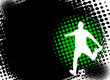 soccer player on the abstract halftone background - vector