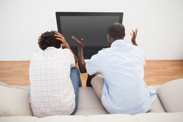 Football fans watching the game