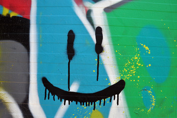 abstract smiling face