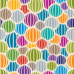 Color spheres seamless pattern.