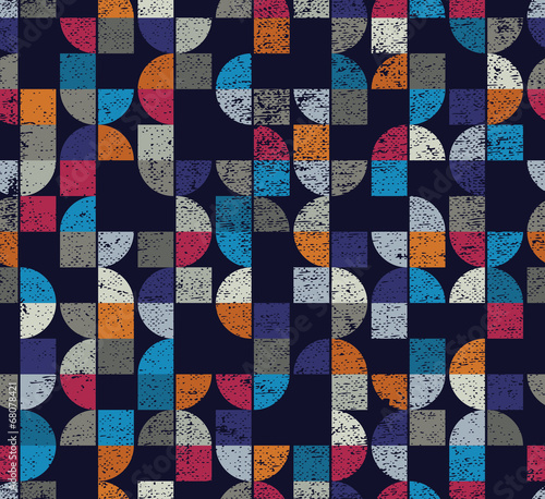 Papiers peints Artificiel Geometric seamless textured mosaic tiles pattern.