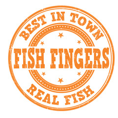 Fish fingers stamp