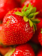 Strawberry close-up macro