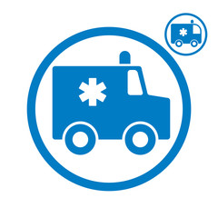 Ambulance emergency car icon.