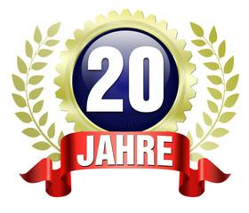 20 20. lorbeer jubiläum stolz ehre