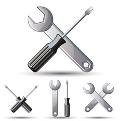 Repair 3d icon set.