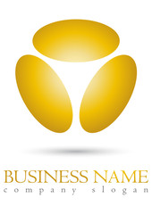 Business logo yellow spehe design