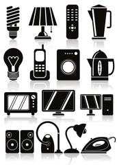 Household appliances icons set.