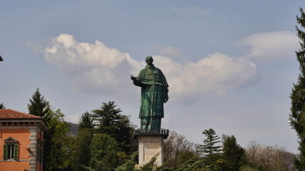 San Carlone giant statue Time-lapse, Piedmont, Italy