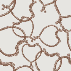pattern of rope hearts