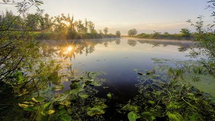 sunrise on the lake, sunrise over river, morning Landscape,HD 10
