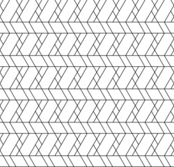 Black and white geometric seamless pattern with line, rhombus, t