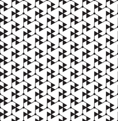 Black and white geometric seamless pattern with line, triangle a
