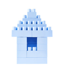Small building made of toy bricks