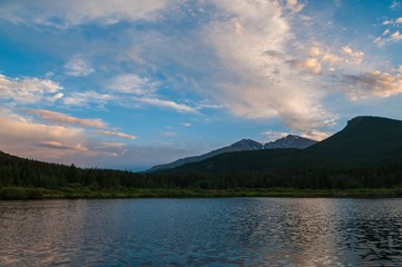 Lilly lake Colorado Sunset 4k time-lapse