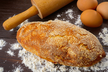 Baking bread background close up shoot