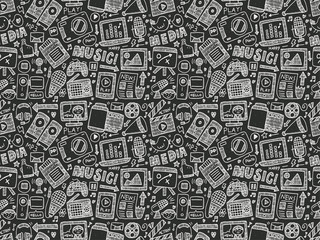 seamless doodle media pattern