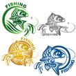 Постер, плакат: логотип рыбалка