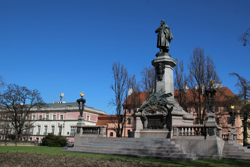 Adam Mickiewicz monument in Warsaw