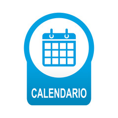 Etiqueta redonda azul CALENDARIO