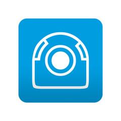 Etiqueta tipo app azul simbolo webcam