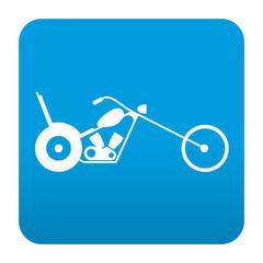 Etiqueta tipo app azul simbolo chopper