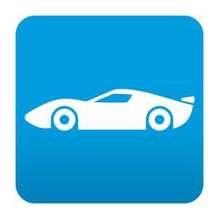 Etiqueta tipo app azul simbolo deportivo