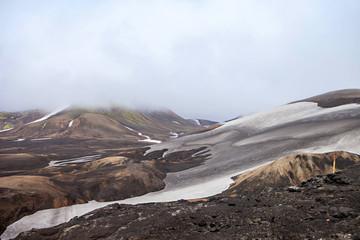 Cold Icelandic Landscape -  Laugavegur, Iceland