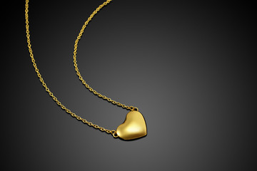 Golden heart with necklace chain