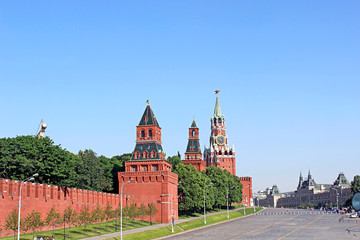 View over the grounds Moscow Kremlin and Red Square