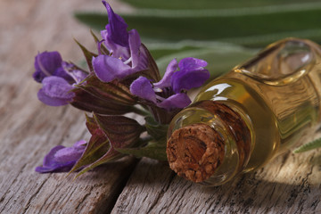 fragrant sage extract in a bottle horizontal