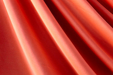 Part of red curtain