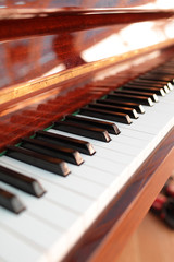 The piano keyboard