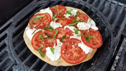 Margherita Pizza on the Grill